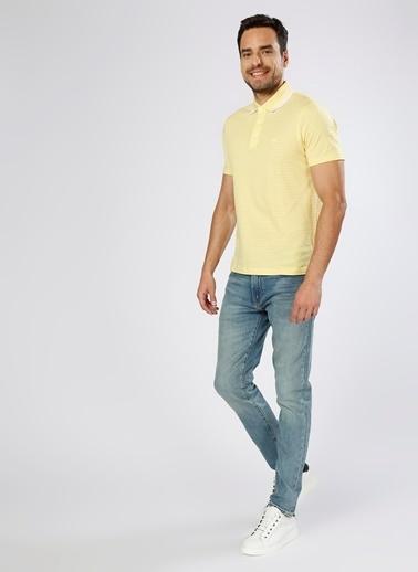 Cotton Bar Polo Yaka Tişört Sarı